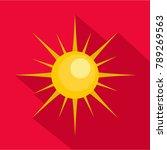sun icon. flat illustration of...