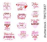 love vector lovely calligraphy... | Shutterstock .eps vector #789271837