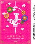 2018 chinese spring festival... | Shutterstock .eps vector #789276217