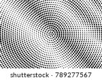 black and white dotted halftone ... | Shutterstock .eps vector #789277567