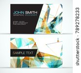 elegant modern business card... | Shutterstock .eps vector #789278233