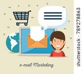 email marketing internet... | Shutterstock .eps vector #789278863