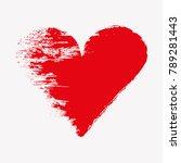 abstract heart. vector heart.  | Shutterstock .eps vector #789281443