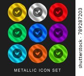 check mark in a circle 9 color... | Shutterstock .eps vector #789287203