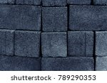 gray wall with stone tiles ... | Shutterstock . vector #789290353