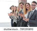 smiling business team... | Shutterstock . vector #789290893