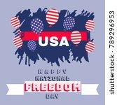 national freedom day. freedom... | Shutterstock .eps vector #789296953