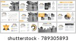 business presentation slides... | Shutterstock .eps vector #789305893