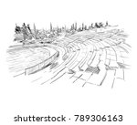 theater of dionysus. athens.... | Shutterstock .eps vector #789306163