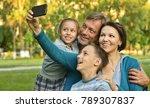 family taking selfie in park   Shutterstock . vector #789307837