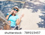vacation concept. enjoying the... | Shutterstock . vector #789315457