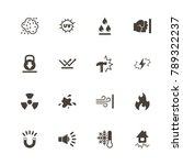 influence icons. perfect black... | Shutterstock .eps vector #789322237