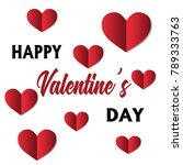 card with heart cut out of... | Shutterstock .eps vector #789333763