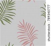 tropical memphis seamless...   Shutterstock .eps vector #789340777