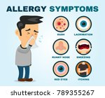 allergy symptoms problem... | Shutterstock .eps vector #789355267