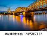 night view of cologne cathedral ... | Shutterstock . vector #789357577