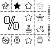 rate icons. set of 13 editable... | Shutterstock .eps vector #789358537