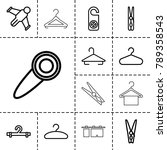 hang icons. set of 13 editable...   Shutterstock .eps vector #789358543