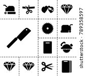cutting icons. set of 13... | Shutterstock .eps vector #789358597