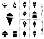 flavor icons. set of 13... | Shutterstock .eps vector #789360127