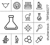 biology icons. set of 13... | Shutterstock .eps vector #789360277
