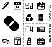 plan icons. set of 13 editable... | Shutterstock .eps vector #789360433