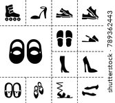 shoe icons. set of 13 editable... | Shutterstock .eps vector #789362443