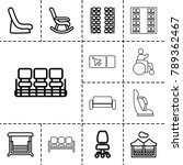 seat icons. set of 13 editable... | Shutterstock .eps vector #789362467
