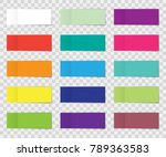 post note sticker set isolated... | Shutterstock .eps vector #789363583