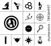 biology icons. set of 13... | Shutterstock .eps vector #789364957
