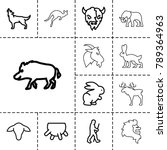 mammal icons. set of 13... | Shutterstock .eps vector #789364963