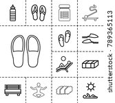 relax icons. set of 13 editable ... | Shutterstock .eps vector #789365113