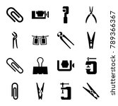 clamp icons. set of 16 editable ... | Shutterstock .eps vector #789366367