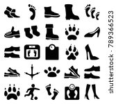 foot icons. set of 25 editable... | Shutterstock .eps vector #789366523