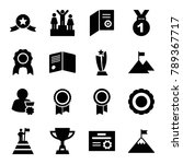 achievement icons. set of 16... | Shutterstock .eps vector #789367717
