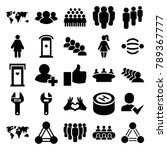 community icons. set of 25... | Shutterstock .eps vector #789367777