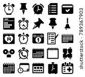 reminder icons. set of 25... | Shutterstock .eps vector #789367903