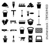 gardening icons. set of 25... | Shutterstock .eps vector #789369403