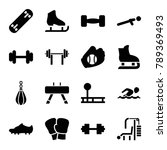 athletic icons. set of 16... | Shutterstock .eps vector #789369493