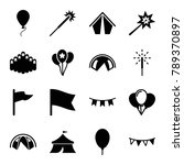 festival icons. set of 16... | Shutterstock .eps vector #789370897