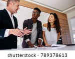 interracial couple having... | Shutterstock . vector #789378613