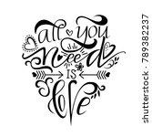 unique brushpen lettering all... | Shutterstock .eps vector #789382237