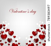 valentines day card with red... | Shutterstock .eps vector #789383497