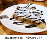 apple strudel with chocolate...   Shutterstock . vector #789395077