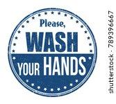 please wash your hands grunge... | Shutterstock .eps vector #789396667