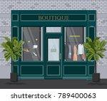 graphic vector facade vintage... | Shutterstock .eps vector #789400063