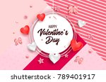 happy valentines day and... | Shutterstock .eps vector #789401917