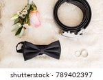 groom's morning. wedding... | Shutterstock . vector #789402397