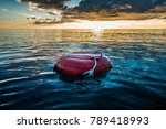 red buoy for freediving... | Shutterstock . vector #789418993