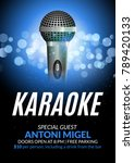 karaoke party invitation poster ... | Shutterstock .eps vector #789420133